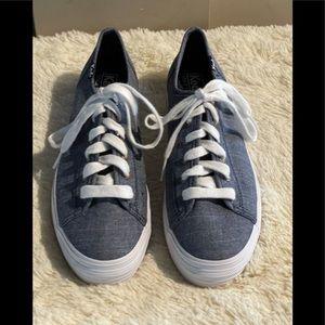 Keds Triple Kick Chambray Blue Platform Sneakers